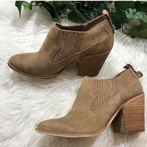 Chinese Laundry Sonoma Ankle Bootie Stack Heel.